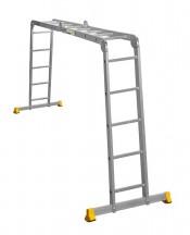 Лестница шарнирная АЛЮМЕТ (2х4 + 2х5) ступ. алюминиевая трансформер, проф.